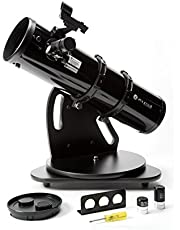 Zhumell Zhus003-1 Z130 draagbare Azimutal reflector telescoop, zwart