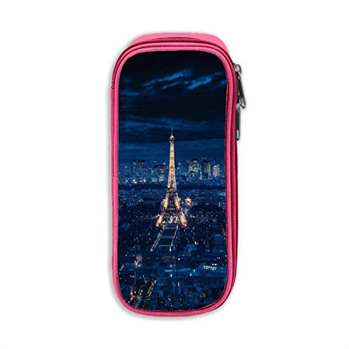 Fgvjkjk Eiffel Tower in Paris Pencil Cases, Simple One Zipper Compartment Bag to Hold Office Or Supply Accessories in Organized for Men, Women, Adult
