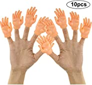 Yolococa 10 Pieces Finger Puppet Mini Finger Hands Tiny Hands with Left Hands and Right Hands for Game Party