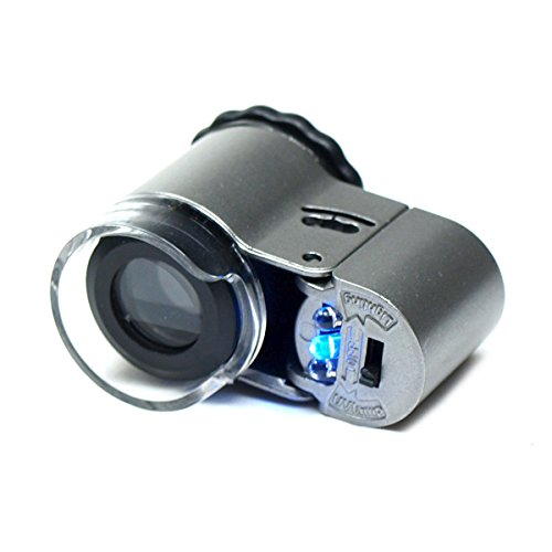 Bracket Viewfinder (50X Jewelers Loupe Lighted Magnifier)