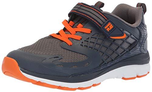 Stride Rite Boys' M2P Breccen Sneaker, Navy/Orange, 9 W US Toddler (Stride Rite 9 W Boys)