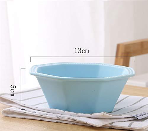 Sweet Cake, Fruit Plate, Glaze, Matte Glaze Dish, Sweets Cake, Fruit Plate, Matte Breakfast Plate,Yaguang Octagonal Bowl - Blue ()