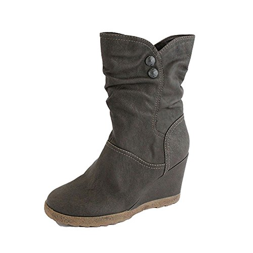 Footprints - Botas de Material Sintético para mujer marrón marrón