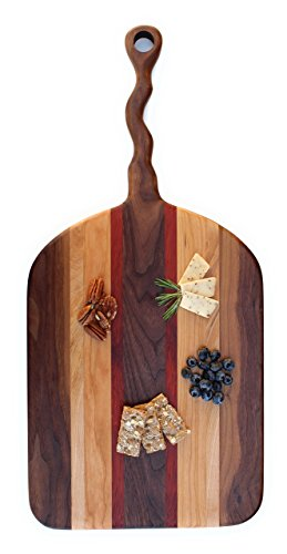 Crazy Handle Cutting Board - Wood - Paddle Board - Wedding - Pizza Peel - Anniversary - Gift - Chef - Kitchen - Decor - Butcher Block
