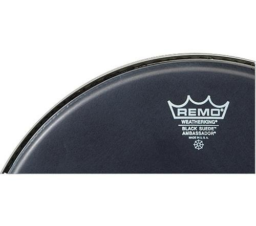 Remo Ambassador Black Suede Drumhead, 14''