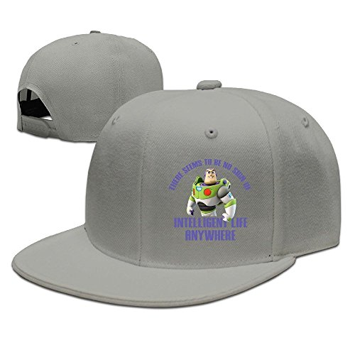 McBr American Animated Television Series Character Flat Bill Snapback Adjustable Visor Caps Ash