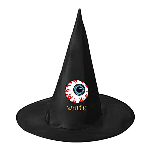 Lamp Leg One Leg Man Costume (Unisex WHITE Family Eyeball Halloween Party Witch Hat Wizard Cosplay Costume Cap, Personalizes Costume)