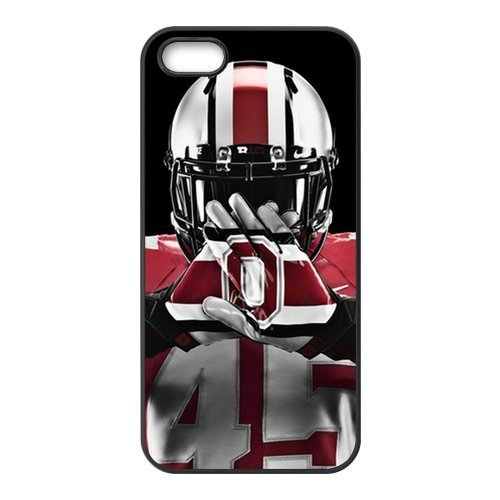 NCAA Ohio State Buckeyes Team Logo for iPhone5 or 5s Best Rubber Cover Case at Color Your Dream Mall