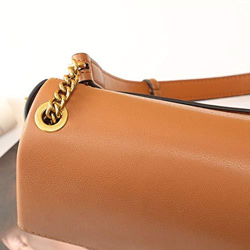 Karamellfärg kohud handväska messengerväska kvinnligt mode färg block axelväska kuvertväska topphandtag plånbok axelväska 21 cm x 6,6 cm x 18,5 cm/karamellfärg