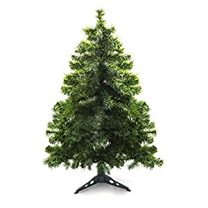 Prextex 4 Feet Premium Hinged Artificial Canadian Fir Christmas Tree Lightweight/Easy to Assemble with Christmas Tree Stand 44