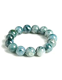 Jadeite Jade Bead Bracelet - 13mm (Grade A)