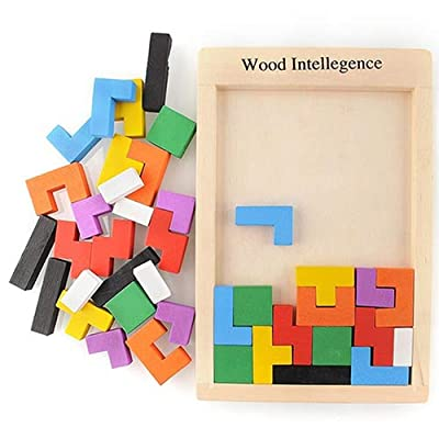 Cuiedailqhb Educational Toy, for Gift, Wooden Block Kids Early Educational Toys Children Game Intellegence Jigsaw Puzzle Colorful Blocks, Educational Toys, Plastic Packaging: Toys & Games