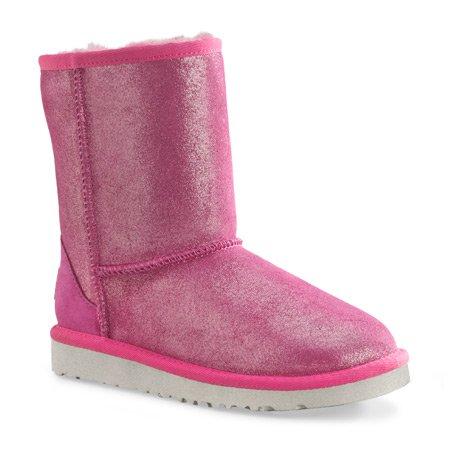 Ugg Australia Kids Classic Glitter Youth Girls Pink Winter Boots 3 UK UK 3