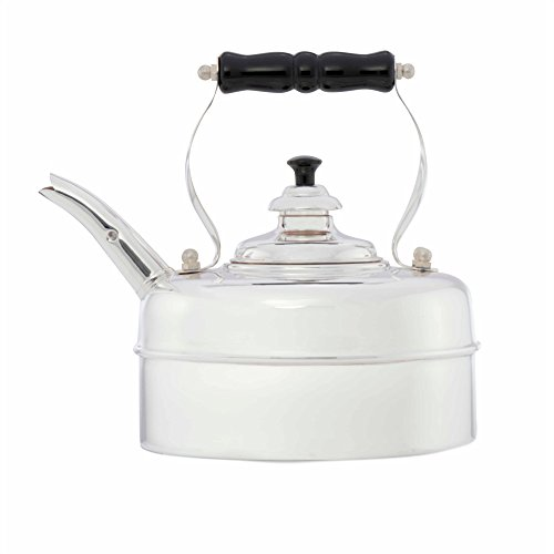 Simplex Kettles Kensington Solid Copper No. 2 Silver Plated Finish 1.9 Quart Teakettle by Simplex (Image #1)