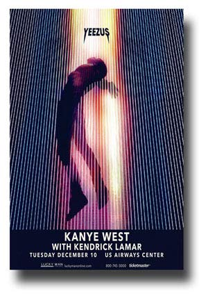 902d8bc376200 Amazon.com: Kanye West Poster Concert Promo 11 x 17 inches Yeezus ...