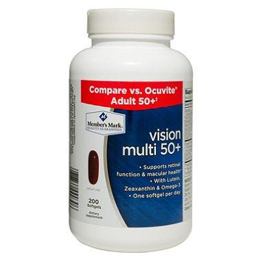 Member's Mark Vision Multi 50+ Dietary Supplement (2×200 ct.)