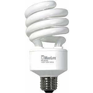 maxlite mlm30scw cfl light bulb 30w 120w equivalent e26. Black Bedroom Furniture Sets. Home Design Ideas