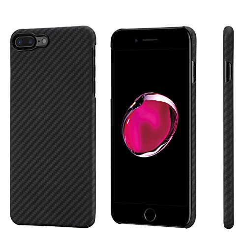 Support Apples Organic (pitaka Minimalist iPhone 8 Plus/iPhone 7 Plus Case, Magcase Aramid Fiber[Real Body Armor Material] Phone Case,Slim Fit Ultra Thin Super Light Snap-on Case for iPhone 8 Plus/7Plus-Black/Grey(Twill))