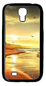Beach Beautiful Scene DIY Hard Shell Black Designed For Samsung Galaxy S4 I9500 Case hjbrhga1544