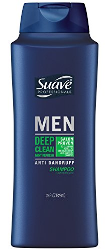 Suave Anti Dandruff Shampoo for Men, Deep Clean Mint Refresh, 28 Ounce