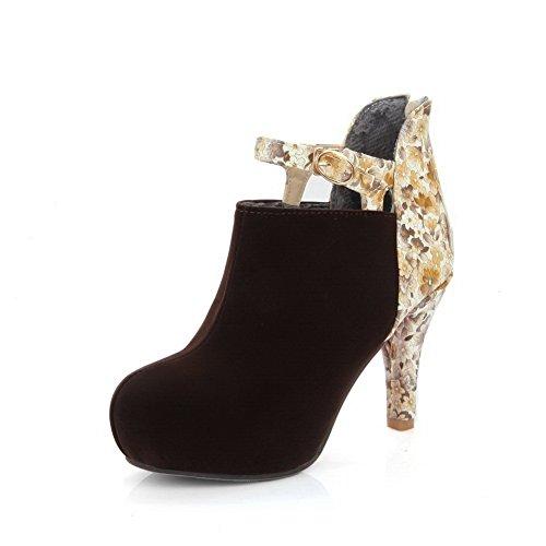 en Marron femmes aller Chaussures antidérapantes à Souliers AdeeSu crampons tout Souliers pour SXC01880 uréthane HzS6xnnwp1