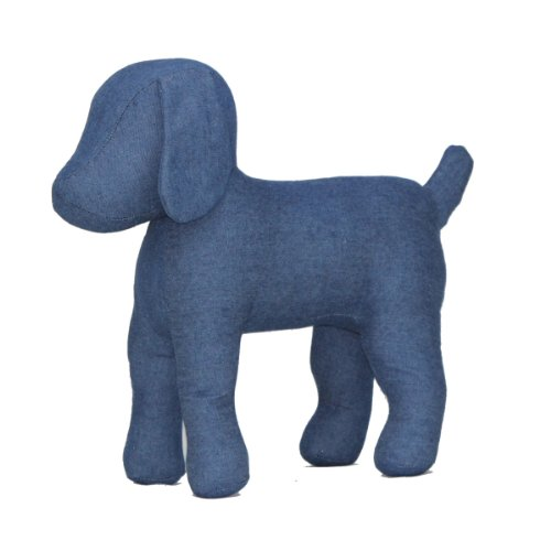 Teafco Cleo Blue Denim Dog Mannequin, Standing (Standing Dog)