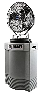 Cool Draft CDHP1840GRY High-Pressure 1000 PSI 22-Inch Diameter 4-Position 3-Speed Misting Fan