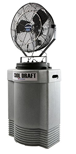 Cool Draft CDMP1840GRY Mid-Pressure 180 PSI 22-Inch Diameter 4-Position 3-Speed Misting Fan