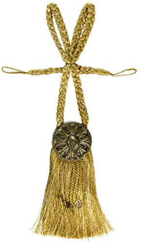 (India House 76726 Tieback Medallion Tassel, 9-Inch, Gold Mix)