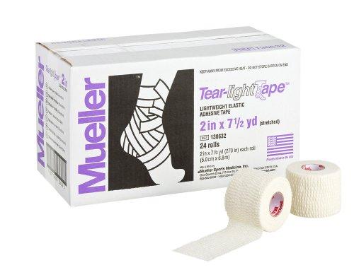Mueller Tear-light Tape White 2 Inch X 7.5 Yard - Mueller Light Tear