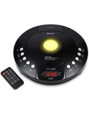 HANNLOMAX HX-330CD CD Player, FM Radio, Bluetooth, Alarm Clock, Red LED Display, USB Port for Charge/MP3 Playback, Aux-in, Remote Control