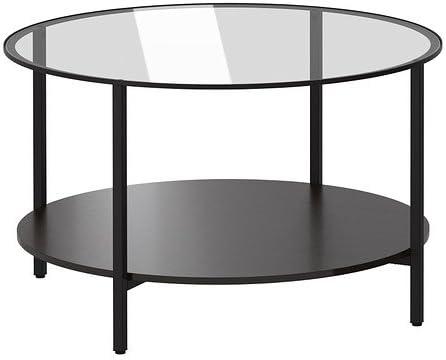 Tavolo Vetro Rotondo Ikea.Ikea Tavolino Vittsjo Nero Marrone Vetro 75 Cm Amazon It