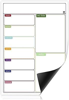 Calendario Magnético para Nevera, Pizarra Blanca Magnética para ...