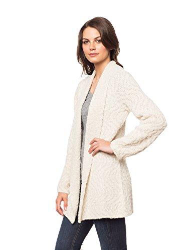 Invisible World Womens Alpaca/Pima Cotton Blend Womens Sweater Coat Cardigan Swirl - Medium by Invisible World (Image #2)