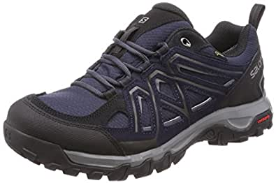 SALOMON Evasion 2 Goretex Hiking Shoe, Men's - Graphite/Night Sky/Quiet Shade_7.5AU Grey