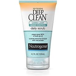 Neutrogena Deep Clean Long-Last Shine Control Daily Face Exfoliating Scrub, 4.2 Fl. Oz.