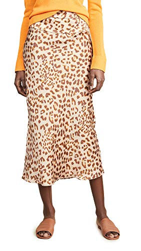 Free People Women's Normani Bias Printed Skirt, Camel Combo, 12 ()