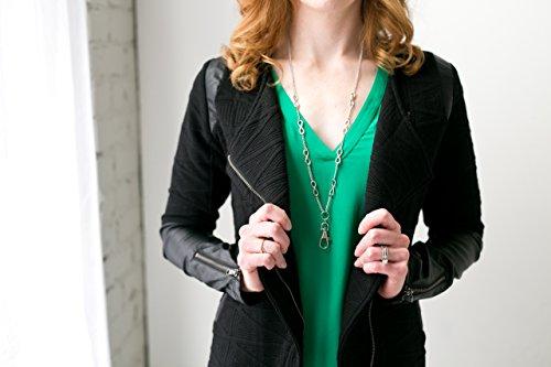 Hannah Women's Fashion Lanyard Silver Infinity Necklace with Swivel Clasp by Sweet Carolina K (Image #4)
