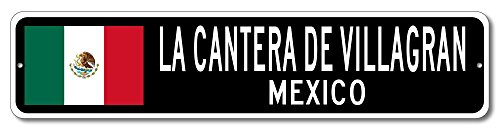 Mexico Flag Sign - LA CANTERA DE VILLAGRAN, MEXICO - Mexican Custom Flag Sign - 6