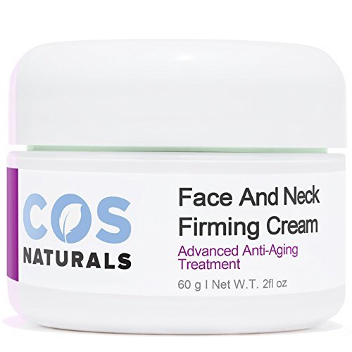Natural Treatment (COS Naturals FACE AND NECK FIRMING CREAM Advanced Anti-Aging Treatment NATURAL & ORGANIC Ingredients Firming Toning Daily Moisturizer Lotion For Wrinkles Fine Lines Saggy Skin Chest Body 2 Oz.)