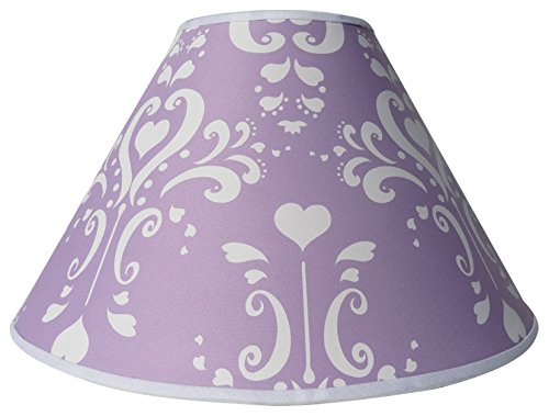 Purple Damask Lamp Shade/Childrens Lampshade Nursery Decor