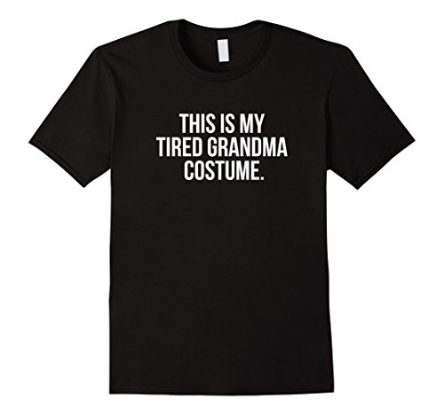 Simple Mime Costume For Men (Mens This is my Tired Grandma Costume Funny Halloween Shirt Large Black)