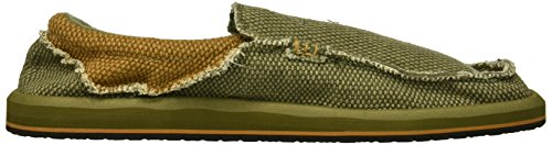 Slip On Army Loafer Men's Chiba M Brown Green Sanuk CwqtTZ