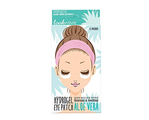 Look At Me Korean SkinCare Hydrating Hydro-gel Eye Patches, K-Beauty, Aloe Vera   Pack of 2