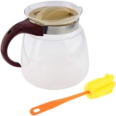 1850 Ml Eenvoudige Waterkoker Thee Pot Hittebestendige Glazen Theepot Handig Kantoor Theepot Set Gebruikt Op Gas En Elektrische Kachels B
