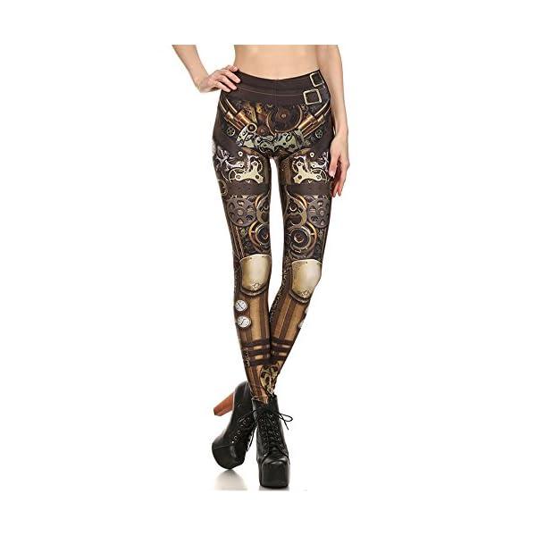 Women Steampunk Retro Leggings Comic Cosplay Punk Print Polyester Gothic Trousers Capris Pants S-4XL Plus Size 3