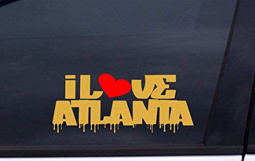 Fulton Atlanta Stadium (I LOVE ATLANTA vinyl decal 3
