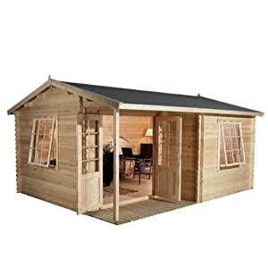 Greenacre 16.4ft x 13.1ft (5m x 4m) Home Office Executive Log Cabin