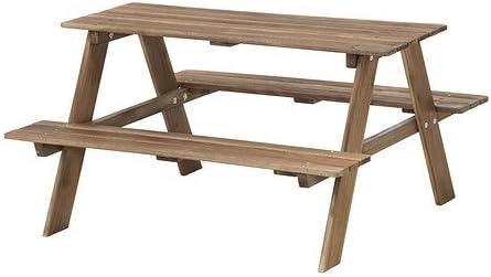 Ikea Reso Tavolo Da Picnic Per Bambini Grigio Marrone Amazon It Giardino E Giardinaggio