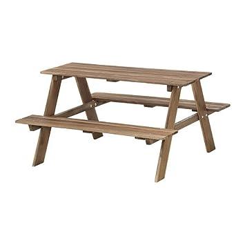 IKEA RESO - Niños-s mesa de picnic, gris-marrón: Amazon.es ...